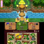 In The Legend of Zelda: Tri Force Heroes verfolgen drei Spieler dasselbe Ziel.
