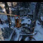 Die Seilrutsche erleichtert einige Wege und kann auch gut zur Flucht genutzt werden.