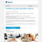 """Aktuell ist auch diese gefälschte E-Mail im Umlauf. Sie enthält sowohl eure E-Mail-Adresse als auch euren Vor- und Nachnamen. Allerdings führt der Button """"Zur PayPal Seite"""" euch nicht zu PayPal, sondern auf eine gefälschte Webseite."""