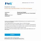 Angeblich hat ein Unbekannter über euer PayPal-Konto etwas bestellt. Daraufhin wurde euer PayPal-Account gesperrt. Mit einem Abgleich eurer Daten könnt ihr die Sperrung angeblich wieder aufheben. Fallt nicht darauf rein. Alles ist nur erfunden.