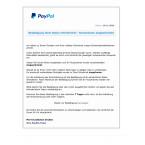Angeblich wurden bei PayPal die Sicherheitsmaßnahmen in eurem Interesse erhöht. In diesem Zusammenhang wurde euer Konto eingeschränkt. Sobald ihr eure Daten bestätigt habt, wird es angeblich wieder freigeschaltet. Diese E-Mail gehört in den Papierkorb, denn der Link führt auf eine gefälschte Webseite.