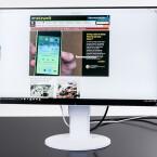 Der Monitor punktet mit einem fast randlosem Display.