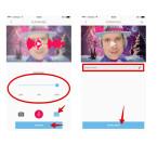 """Nachdem ihr euren Gruß aufgenommen habt, könnt ihr über das Equalizer-Icon unten rechts die Stimmlage verändern. Bewegt dazu den eingeblendeten Balken nach rechts oder links. Seid ihr mit dem Ergebnis zufrieden, so tippt ihr unten auf den Button """"WEITER"""". Anschließend müsst ihr eurem Gruß noch einen Namen geben und diesen mit einem Klick auf """"SPEICHERN"""" bestätigen. Danach wird das Video erstellt und automatisch in der nativen Bildergalerie gespeichert."""