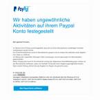 Diese Phishing-E-Mail informiert den Empfänger, dass beispielsweise aus Cameroon auf das PayPal-Konto zugegriffen wurde. Sicherheitshalber wurde der Zugang gesperrt. Per Datenabgleich sollt ihr euer PayPal-Konto verifizieren. Doch wer das tut landet auf einer Phishing-Webseite. Klickt keine Links in der Nachricht an.