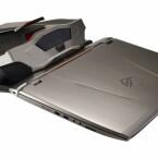Die volle Power entfaltet das Notebook erst, wenn es an das Dock angeschlossen wird.