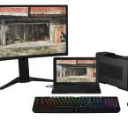 Angeschlossen an externe Hardware, mutiert das Razer Blade Stealth zur Gaming-Zentrale.