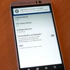 Betriebssystem ist Android 5.0 Lollipop, das HTC mit seiner Nutzeroberfläche Sense 7.0 überzogen hat.