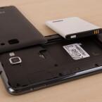 Wechselbarer Akku und Stylus in einem Gerät: Das Galaxy Note N7000.