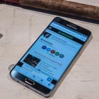 Der Bildschirm des Galaxy Note 5 misst in der Diagonalen 5,7 Zoll.