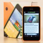 Der Bildschirm des Lumia 530 misst in der Diagonalen vier Zoll.