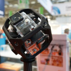 Der Actioncam-Marktführer GoPro stellte kein neues Modell, aber jede Menge Zubehör aus.