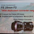 Das Festbrennweitenobjektiv FE 28mm F2 erhält zusätzlich zwei optionale Konverter.
