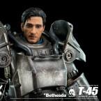 Teile der Power Armor lassen sich abnehmen. Dazu gehört auch der Helm.