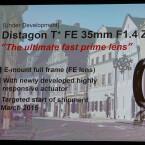 Mit dem Distagon T* FE 35mm 1.4 ZA kommt bereits das zweite Objektiv mit 35mm Brennweite. Jedoch ist die Neuvorstellung deutlich Lichtstärker.