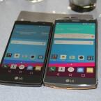 Das LG G4c (links) ist der kleine Bruder des LG G4 (rechts).