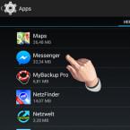 """Nur über einen Umweg über die nativen Einstellungen des Android-Betriebssystems lassen sich die Push-Mitteilungen zeitlich unbefristet entfernen. Ruft dazu dazu die Android-Einstellungen auf. Unter """"Apps"""" oder """"Anwendungen"""" sucht ihr den """"Messenger""""."""
