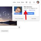 """Melden Sie sich wie gewohnt im Webbrowser in Ihrem Google-Konto an. Klicken Sie dann rechts oben auf das Profilbild und anschließend auf """"Konto"""". (Bild: Screenshot / google.com)"""
