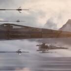 X-Wings sehen aus wie in der klassischen Trilogie.