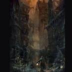 Dieses Artwork zeigt eines der Areale aus Bloodborne.