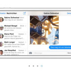 In der Nachrichten-App werden Nachrichten und Postfach nebeneinander angezeigt.