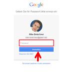 Da Sie jetzt wichtige Einstellungen an Ihrem Google-Account ändern, müssen Sie zur Sicherheit noch einmal Ihr Passwort eingeben. (Bild: Screenshot / google.com)