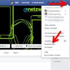 """Besucht Facebook im Webbrowser eures Computers und klickt rechts oben auf das kleine Dreieck. Im Menü wählt ihr """"Einstellungen"""" aus."""