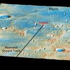 Die Aufschlagstelle der Messenger auf dem Merkur.