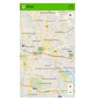 Auf der Karte sehen Sie zum Beispiel, dass Ihre Route Sie quer durch die Stadt führt. (Bild: Screenshot / Mobility Map)