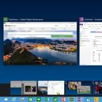 Im neuen Windows 10 kann laut Microsoft zwischen mehreren spezifischen Desktops - etwa für die Arbeit oder den privaten Einsatz - gewechselt werden. (Bild: Microsoft)