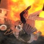 Im Kampf gehen Charaktere auch mal ungeschickt zu Boden. (Bild: Team Ninja / Facebook)