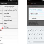 """Über die Android-App AGK Fire-App installiert ihr """"Tasker"""" und Sky Go auf der FireTV-Box. Hierfür müsst ihr die IP-Adresse der Fire TV-Box in der App unter """"Settings"""" eintragen. Anschließend wählt ihr die Apps an und tippt jeweils auf auf das Feld """"Install On (Eure IP Adresse)""""."""