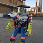 Der kanadische Roboter ist auch nach Wolfsburg gereist.