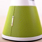 Der Lautstärkeknopf am Lautsprecher des Home Phone. (Bild: netzwelt)