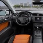 Die Innenausstattung der R-Linie: Im VW Tiguan seid ihr mit eurem Smartphone vernetzt.