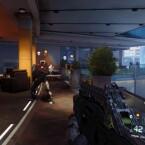 Schöne Aussicht auf dem Balkon, wären da nicht feindselige Roboter.