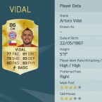Bayerns Neuzugang Arturo Vidal bietet ebenfalls einen Gesamtwert von 86.