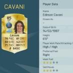 Cavani spielt wie Di Maria bei Paris Saint-Germain.