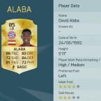 Der Österreicher David Alaba gehört zu den besten Linksverteidigern in FIFA.