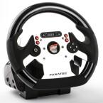Das Lenkrad Forza Motorsport CSR Wheel EU hat einen massiven Plastik-Look.