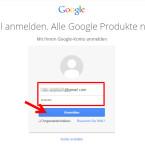 Melde dich im Browser auf der Google-Webseite mit deinem Google-Konto an.