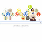 Mathematikerin geehrt: Emmy Noether auf dem Google Doodle.