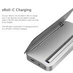 Beim eRoll-Konzept dient eine passende Schachtel gleichzeitig als Ladestation. Daher fällt die eigentliche E-Zigarette besonders schlank aus.