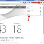 """Neben der Adresszeile findet ihr die Erweiterung in Form eines Icons mit einer Maske. Tippt dieses an, um die zur Verfügung stehenden User-Agents auszwählen. Nach einem Klick auf """"Safari"""" wählt ihr """"OSX Safari 7"""" aus und besucht die Apple Webseite erneut."""