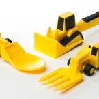 Das Kind will nicht essen? Mit diesen Besteck-Gadgets für 21 Euro ändert sich das vielleicht. (Bild: Screenshot constructiveeating.com)