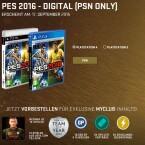 Mit einer PS3 oder PS4 könnt ihr euch auch die digitale Kopie von PES 2016 sichern.