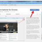 """Ruft im Chrome Web Store den User-Agent Switcher for Chrome auf und klickt oben rechts auf den blauen Button """"KOSTENLOS""""."""