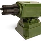 Dieser USB-Raketenwerfer für 35 Euro verschießt computergesteuert Schaumstoffraketen. (Bild: thinkgeek.com)