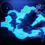 Der rote Kreis auf der Karte des Kosmodroms markiert die Stelle, an der ihr Kaliks-12 findet.