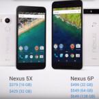Die Preise der neuen Nexus-Geräte in US-Dollar.