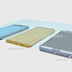 Diese Skizze zeigt das Note 5 im Vergleich zum Galaxy S6 und dem ebenfalls noch unveröffentlichten Galaxy S6 Edge Plus.